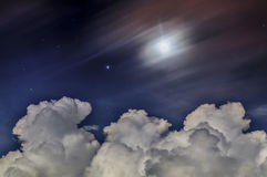 Night magical fantastic sky Stock Photography