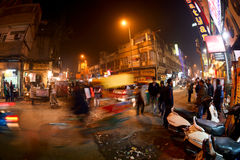 Night Main Bazaar Road Royalty Free Stock Image