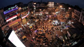 Night Main Bazar in New Delhi stock video