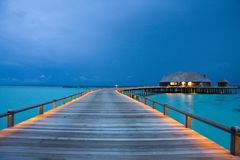 Night on maldives Royalty Free Stock Photography
