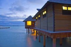 Night on maldives Stock Image