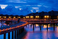 Night on maldives Royalty Free Stock Images
