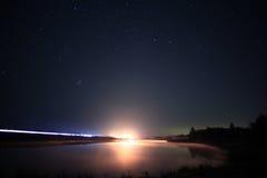 Night man at Lake Stock Photography