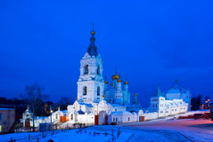 Night. A man's monastery. Perm Piously-Trinity Stefanov a man's monastery Royalty Free Stock Photos