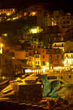 Night Manarola. Italy Stock Images