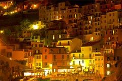 Night Manarola. Italy Stock Images
