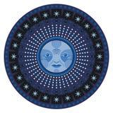 Night Mandala. Concentric decorative mandala of the moon Royalty Free Stock Photos