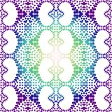 Night mandala hearts pattern seamless texture. Abstract night tones from purple to green blue pattern texture, creating a mandala effect. Seamless background Stock Image