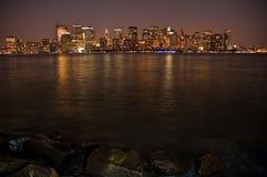 Night Manhattan Royalty Free Stock Photo