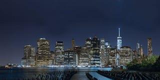 Night Manhattan panorama Stock Photography