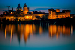 Night on Mantua City Royalty Free Stock Images