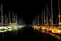 Night marina. Silent evening in an Herzliya marina Royalty Free Stock Image