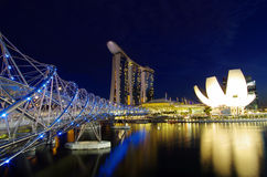 Night Marina bay Stock Image
