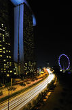 Night at Marina Bay Sands Stock Photography