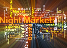 Night market background concept glowing Stock Photography