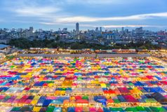 Night Market in Bangkok stock image