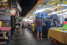 Night market Bangkok Thailand Stock Photos