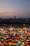 Night market in Bangkok Thailand. Rotfai night market is the famous night market in Bangkok, it's located behind the Esplanade shopping center near Thailand Stock Photos