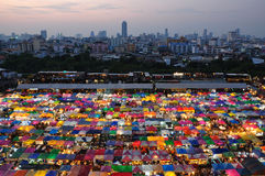 Night market in Bangkok Thailand. Rotfai night market is the famous night market in Bangkok, it's located behind the Esplanade shopping center near Thailand Royalty Free Stock Photography