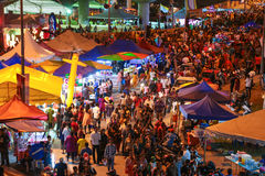 Night market at Batu Cave, Kuala Lumpur Malaysia during Thaipusam festival Stock Images