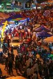 Night market at Batu Cave, Kuala Lumpur Malaysia during Thaipusam festival Royalty Free Stock Photos