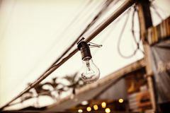 Night Market Bulb in Sepia Royalty Free Stock Image