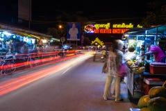 Night market Cambodia royalty free stock photo