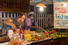 Night market in Chiang Mai, Thailand Royalty Free Stock Photo