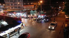 Night market in Chiang Mai stock footage