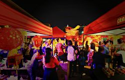 Night Market in Cleveland AsiaTown Royalty Free Stock Photos