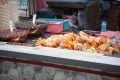 Night market dumplings Royalty Free Stock Image
