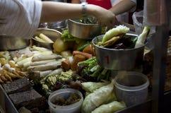 Night market food vender Stock Photos