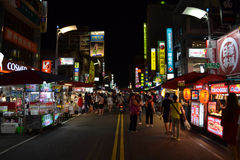 The night market in Kaohsiung Stock Image
