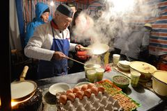 Night market of Lanzhou Stock Image