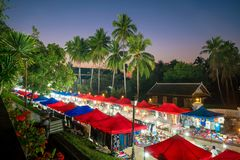 The night market in Luang Prabang Royalty Free Stock Image