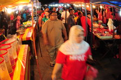 Night market in Malaysia Stock Images