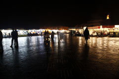 The night. Market in marrakech, marocco Royalty Free Stock Photography