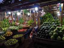 Night market in Nyaungshwe, Myanmar Stock Photos