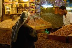 Night market in Sanaa, Yemen Royalty Free Stock Photos