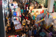 Night market at Siam Square shopping center. Stock Images
