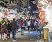 Night market in Taipei Stock Images