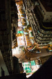 Night Market, Temple street, Hong Kong. Night Market top view, Temple street, Hong Kong Royalty Free Stock Photos