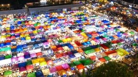 Night market. Time Lapse stock footage