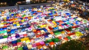 Night market. Time Lapse