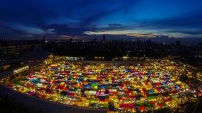 Night market. Time Lapse. stock video footage
