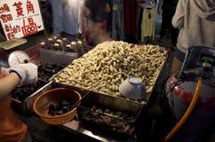 Night market vendor Taiwan Royalty Free Stock Photography