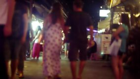 Night marketplace in Koh Samui with blurred stock footage