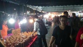 Night markets in Samut Prakan stock footage