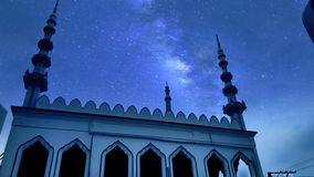 Night at masjid. A mesmerising view from the eyes of a photographer Royalty Free Stock Photo