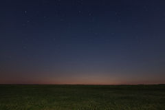 Night meadow background. Night starry sky. Night sky with stars Royalty Free Stock Images